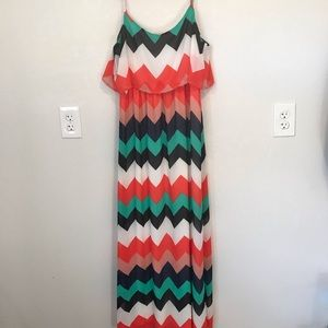 ❄️Takara Multi Colored Maxi Dress
